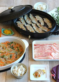『<BRUNO>野菜あんで食べる豚バラ焼肉』