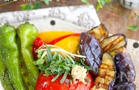 揚げずにこのコク❤麺つゆで簡単~夏野菜の焼きびたし