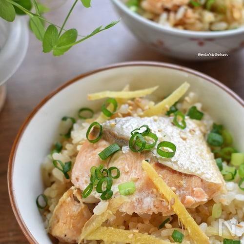 味付け1つ♡生姜香る♡激うま♡鮭と生姜の炊き込みご飯♡