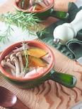 10分で出来る*かぼちゃときのこたっぷり簡単クリームスープ