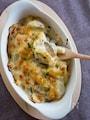 里芋とチキンのグラタン