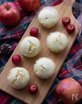 フライパンで簡単!りんごたっぷり♪ふっくら蒸しパン