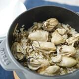 『牡蠣と昆布』の炊き込み牡蠣ごはん