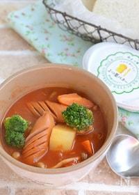 『ごろごろ野菜とチーズのトマトスープ鍋』