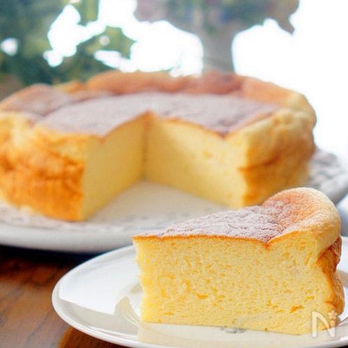 ストウブ鍋でカロリー控えめのスフレチーズケーキ