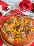 豚バラで薔薇のトマトパエリア
