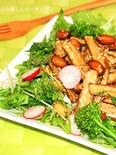 ゴボウと落花生の甘辛のっけサラダ