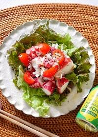 『さっぱり美味しい!たことトマトのねぎ塩レモンマリネ』