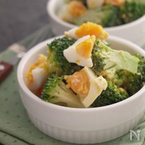 濃旨*ブロッコリーと半熟卵のオイマヨサラダ