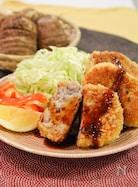 里芋とひき肉の焼きコロッケ。外はサクサク、中はねっとり!