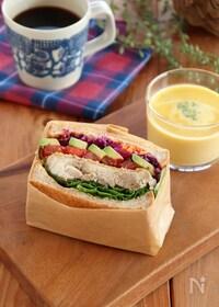 『ハニーマスタードチキンのサンドイッチ』