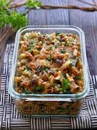 【らくレピ】レンジで簡単!野菜たっぷり万能スタミナなす肉味噌