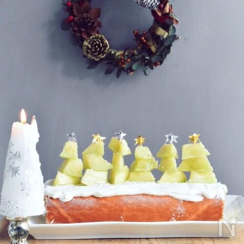 メロンツリーのクリスマスロールケーキ