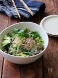 鶏そぼろの春雨サラダ。