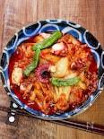 ピリッと美味しい「たこキムチ炒め」