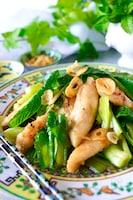 【ご飯がススム】鶏ささみとシャキシャキ小松菜のコク旨塩炒め