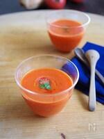 ひんやり甘い♪赤パプリカとトマトの冷たいポタージュ