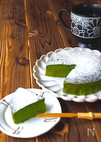 『抹茶お豆腐ケーキ』