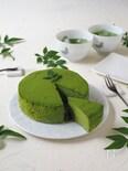 抹茶の豆腐スフレチーズケーキ