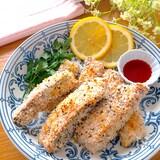 トースターで簡単♡ノンフライ鮭のおつまみスティック
