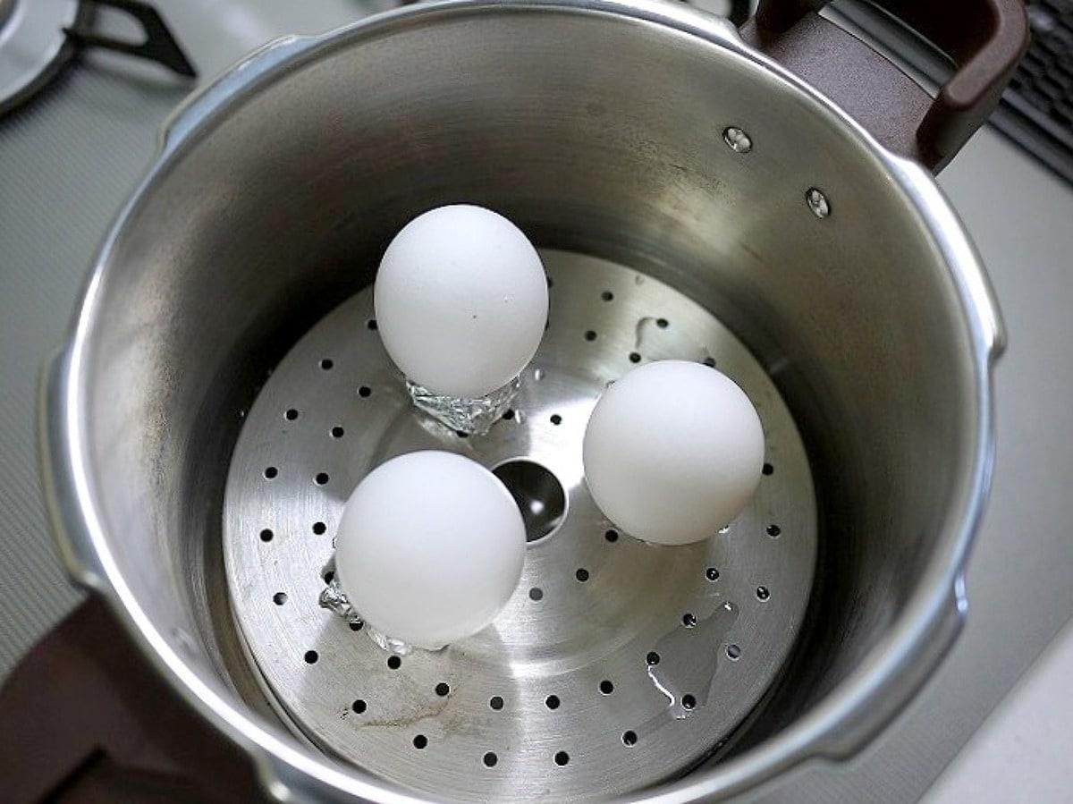 ゆで 圧力 卵 鍋