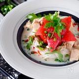 【簡単5分で完成】丸ごとトマトとツナの混ぜるだけタンタン素麺