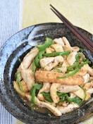 鶏むね肉と厚揚げピーマンの甘辛炒め【作り置き】