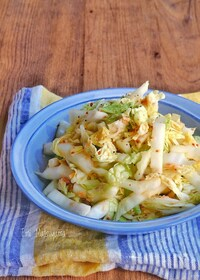 『ポリ袋で簡単!白菜とツナの粒マスタードマリネ』