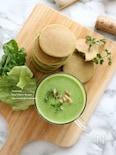 グリーンピースとココナッツミルクのスープ