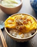 卵のしらす入り生姜焼き