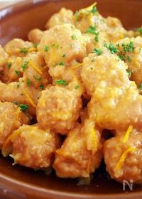 『鶏団子のオレンジジュース煮』