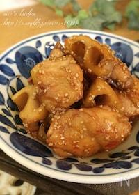 『簡単にもう一品☆鶏と蓮根の甘酢炒め煮 』