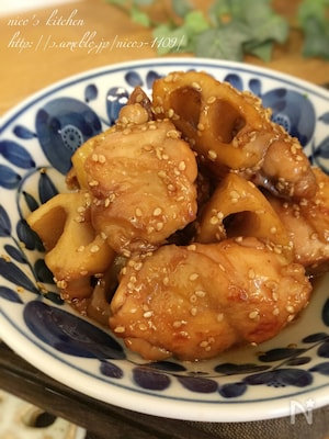 簡単にもう一品☆鶏と蓮根の甘酢炒め煮