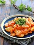簡単!!むき海老と長芋のチリソース炒め