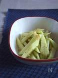 ブロ茎で簡単1品。ゴマ油と《塩レモン》の15秒炒め