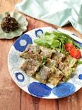 『天ぷら粉でさくさく♡』海苔キムチとニラのチヂミ