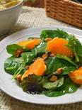 ベビーリーフとオレンジのサラダ
