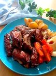 ブルーベリージャム使い♡スペアリブバルサミコにんにく醤油焼き