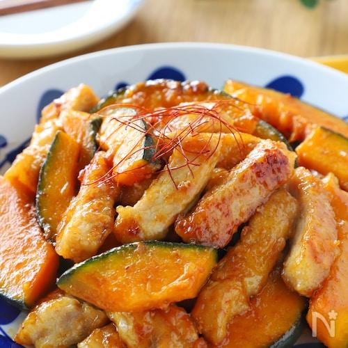 ボリューム満点*豚ロース肉とかぼちゃのオイスター炒め