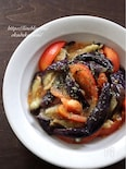 茄子とトマトのガーリックマリネ【レンチン4分+混ぜるだけ】