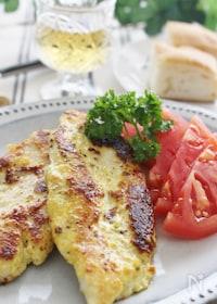 『鶏ささみのカレーチーズ焼き』