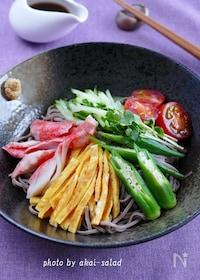 『冷し中華風日本蕎麦』