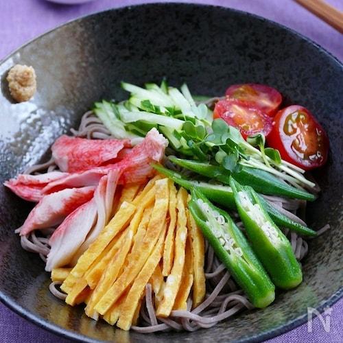 冷し中華風日本蕎麦