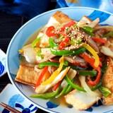 【主菜になる厚揚げ】厚揚げのステーキ*野菜たっぷりの南蛮だれ