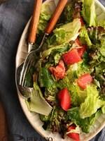 三つ葉とトマトのチョレギ風サラダ♪