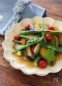 『夏野菜の焼き浸し。』