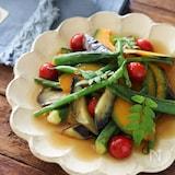 夏野菜の焼き浸し。