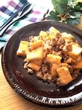 焼き肉のたれで簡単美味しい♡厚揚げとひき肉炒めトロリンチーズ