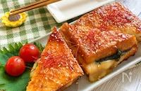 とろ~りチーズと大葉入り♪絹揚げのスタミナ焼き