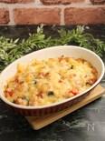 スパムと野菜のチーズ焼き